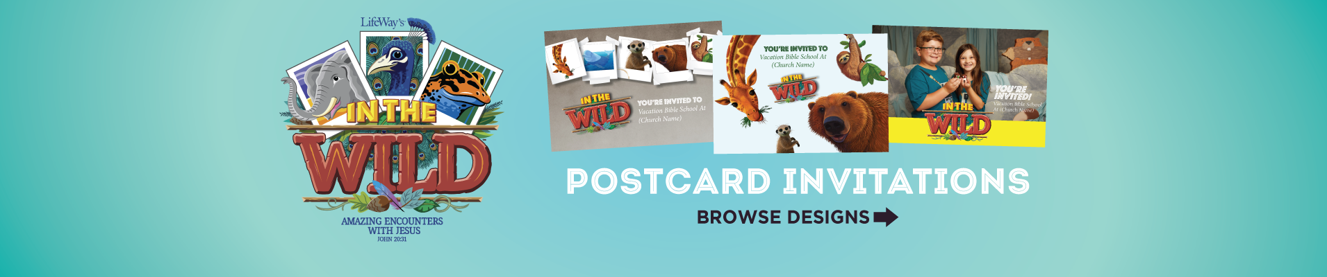 Into the Wild VBS Invitations